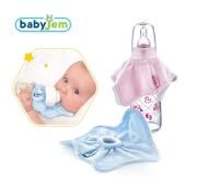 Babyjem - Babyjem Biberon Önlüğü Mavi