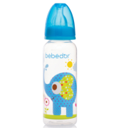 Bebedor - Bebedor Desenli PP Biberon 250 ml 3+ Ay Mavi