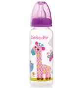 Bebedor - Bebedor Desenli PP Biberon 250 ml Mor 3+ Ay