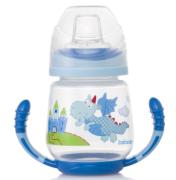 Bebedor - Bebedor Kapaklı Kulplu Alıştırma Bardağı 6+ Ay Mavi