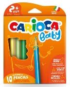 Carioca - Jumbo Bebek Üçgen Kuru Boya Kalemi 10'Lu
